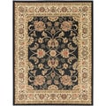 Black Traditional Oriental Design Area Rug (7'10 x 9'10)