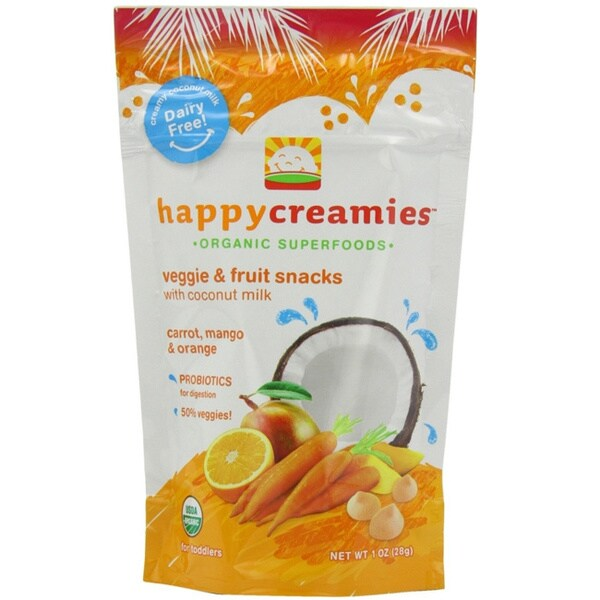 Happy Baby Creamies Fruit and Veggie Snacks (Pack of 6)