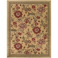 Beige Contemporary Floral Area Rug (3'11 x 5'3)