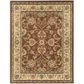 Brown Oriental Design Area Rug (5'3 x 7')