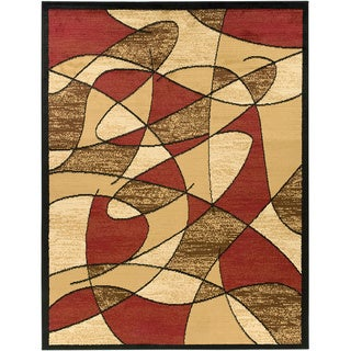 "Multi-color Contemporary Abstract Area Rug (5'3""x7'0"")"