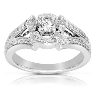 Eloquence 14k White Gold 7/8ct TDW Diamond Engagement Ring (J-K, I1-I2)