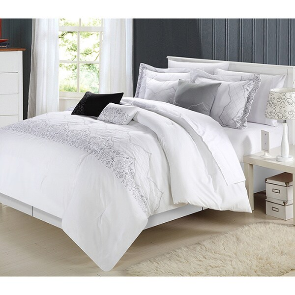 Grace White 12-piece Comforter Set