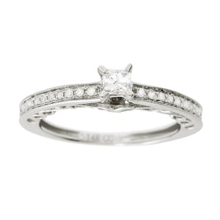 14K White Gold 1/2 ct TDW Princess-Cut Diamond Engagement Ring (H-I, I1-I2)