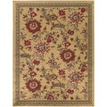 Beige Contemporary Floral Area Rug (7'10 X 9'10)