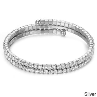 Gorgeous Genuine 'Swarovski Crystallized Elements' Double Row Wrap Bracelet