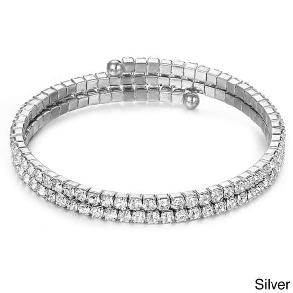 Gorgeous Genuine 'Swarovski Crystallized Elements' Double Row Wrap Bracelet