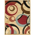 """Beige Contemporary Abstract Area Rug (3'11""""x5'3"""")"""