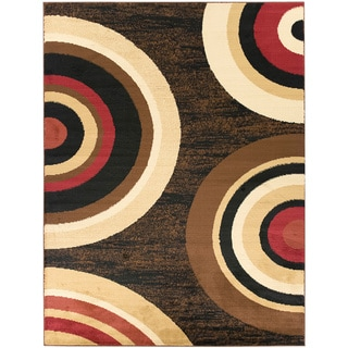 Contemporary Circles Design Area Rug (7'10 X 9'10)
