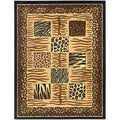 Contemporary Animal Patchwork Design Area Rug (3'11 X 5'3)