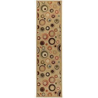 Contemporary Dazzle Design Non-skid Runner Rug (1'8 x 4'11)