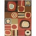 Contemporary Abstract Design Multi-color Rug (7'10 x 9'10)