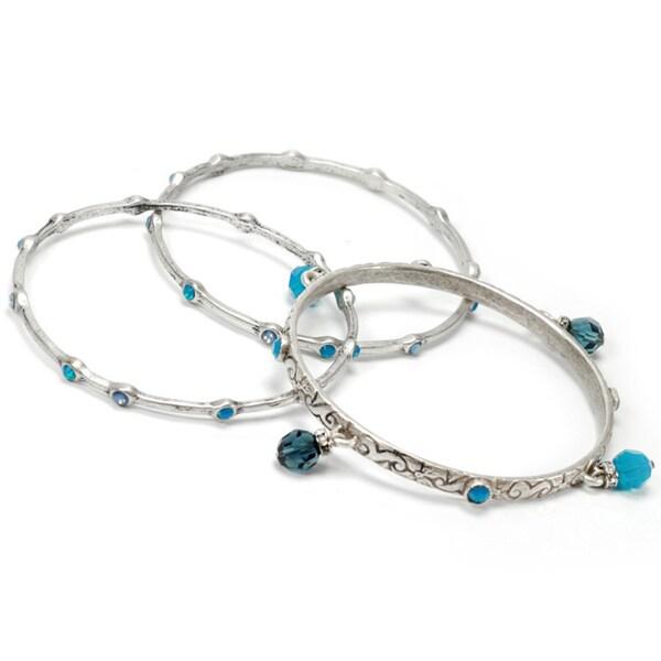 Sweet Romance Crystal Bangle Bracelets