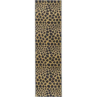Animal Print Leopard Design Non-skid Runner Rug (1'10 x 7')