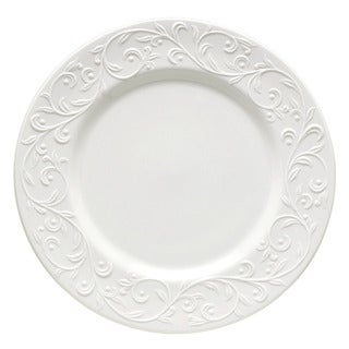 Lenox Opal Innocence Carved Vine Motif White Porcelain Dinner Plate
