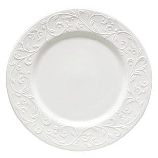 Lenox Opal Innocence Carved Vine Motif White Porcelain Dinner Plate