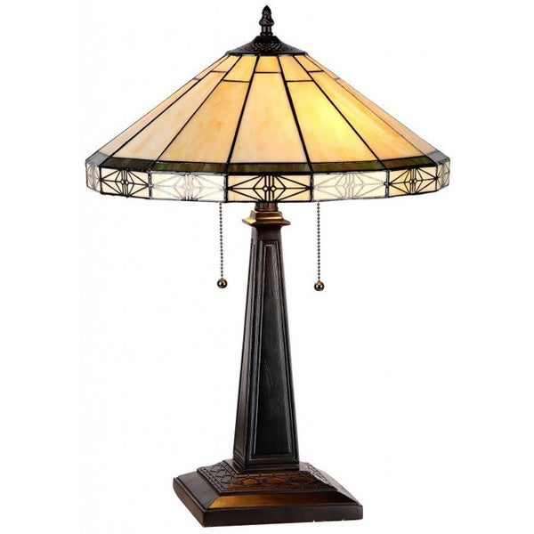 amora lighting tiffany style mission table lamp. Black Bedroom Furniture Sets. Home Design Ideas