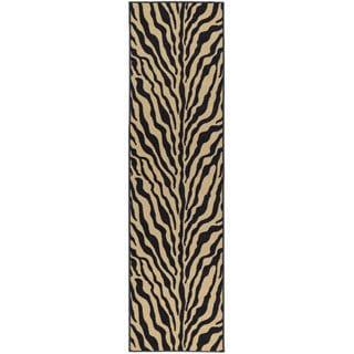 Animal Print Zebra Design Non-skid Runner Rug (1'10 x 7')