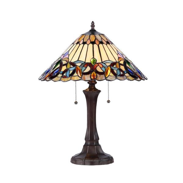 tiffany style victorian 2 light table lamp. Black Bedroom Furniture Sets. Home Design Ideas