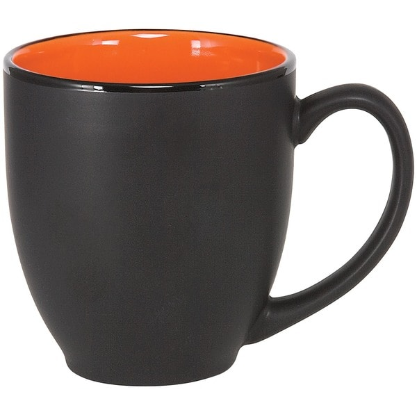 Bistro Orange Ceramic Mugs (Pack of 4)