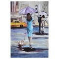 Elias Munos 'Walking in the rain II' Canvas Art