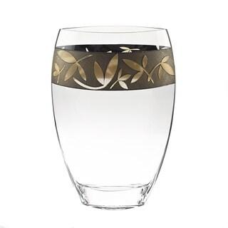 Fiji 12-inch Antique Gold Sandblasted Vase