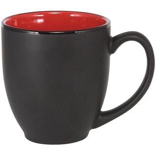 Bistro Red Ceramic Mugs (Pack of 4)