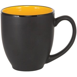 Bistro Yellow Ceramic Mugs (Pack of 4)