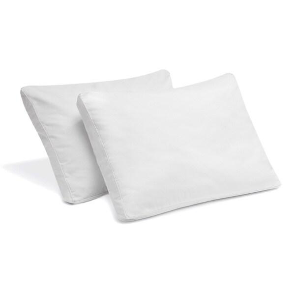 Bodipedic Gel Memory Foam Micro-Cushion Gusset Pillow (Set of 2)