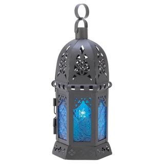 Ocean Blue Candle Lantern