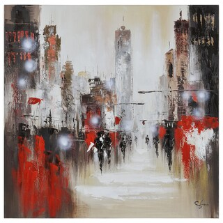 Giovanni Russo 'Windy Day' Canvas Art
