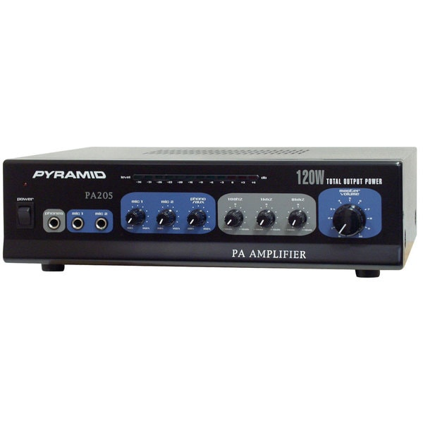 Pyramid PA205 120 Watt Microphone PA Amplifier w/ 70V Output & Mic Talkover (Refurbished)