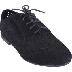 Women's Beston Mason-28 Black Faux Suede
