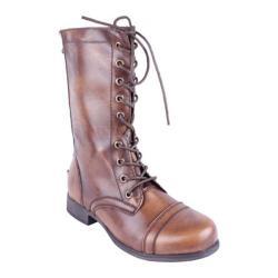 Women's Beston Mitch-3 Cognac Faux Leather