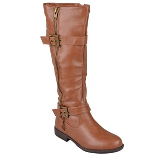 Journee Collection Women's 'Montage' Round Toe Riding Boots