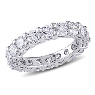 Miadora 14k Gold 3ct TDW Certified Round Diamond Eternity Band (F-G, VS2-SI1)