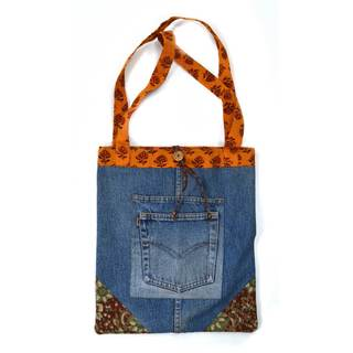 Handmade Recycled Denim Tote Bag (India)