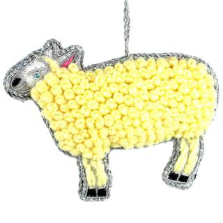 Handmade Curly Sheep Wool Ornament (India)