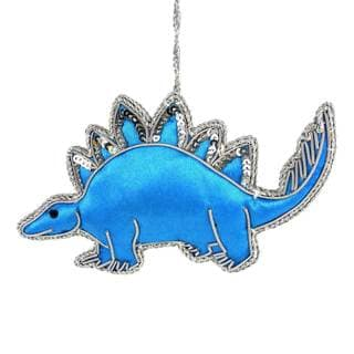 Handmade Stegosaurus Silky Ornament (India)