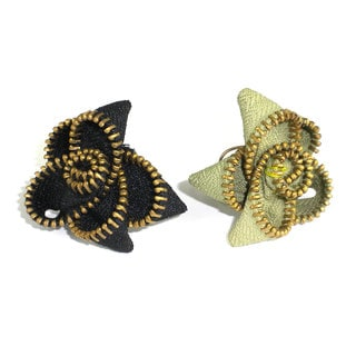Handmade Zipper Flower Ring (India)