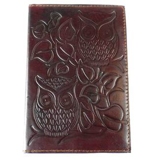 Handmade Night Owl Embossed Leather Journal (India)
