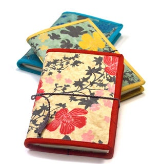 Handmade Spring Flower Journal (India)