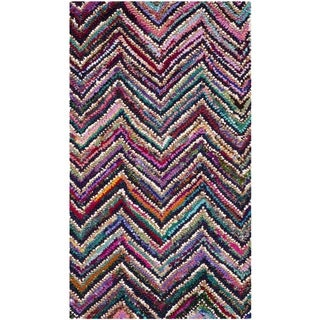 Safavieh Contemporary Handmade Nantucket Multicolored Cotton Rug (2'3 x 4')