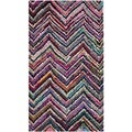 Safavieh Contemporary Handmade Nantucket Multicolored Cotton Rug (2'3 x 4')