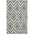 Safavieh Handmade Moroccan Chatham Rectangular Dark Grey/ Ivory Wool Rug (2'3 x 5')