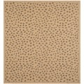 Safavieh Indoor/ Outdoor Courtyard Natural/ Gold Rug (7' Square)