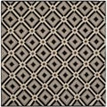 Safavieh Indoor/ Outdoor Four Seasons Black/ Grey Rug (6' Square)