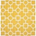 Safavieh Handmade Moroccan Cambridge Gold/ Ivory Wool Area Rug (8' Square)