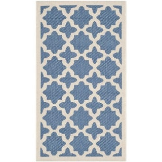 Safavieh Versatile Indoor/ Outdoor Courtyard Blue/ Beige Rug (2'7 x 5')