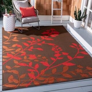 Safavieh Indoor/ Outdoor Courtyard Soft Blue/ Beige Rug (2'7 x 5')